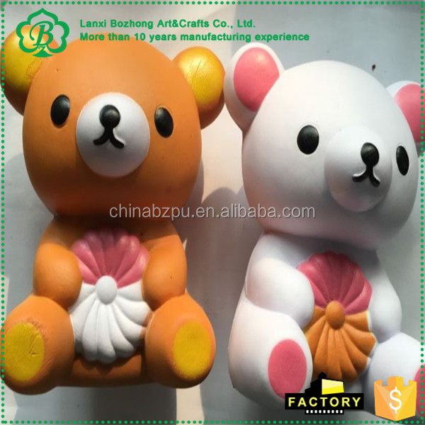 Manufacturer Oem Custom Pu Foam Kawaii Squishies Slow Rising Soft Cute Japan Bear