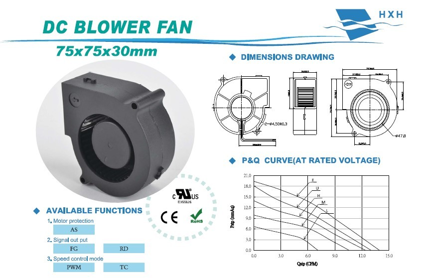 dc 12v small size centrifugal blower fan