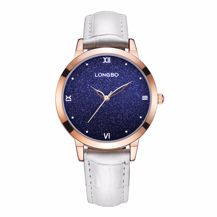 Longbo brand top quality 2017 valentine day gifts wrist watch for women,japan movt 3 atm watches for ladies