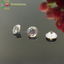 Hot selling products synthetic high sparkle white round cubic zirconia stone