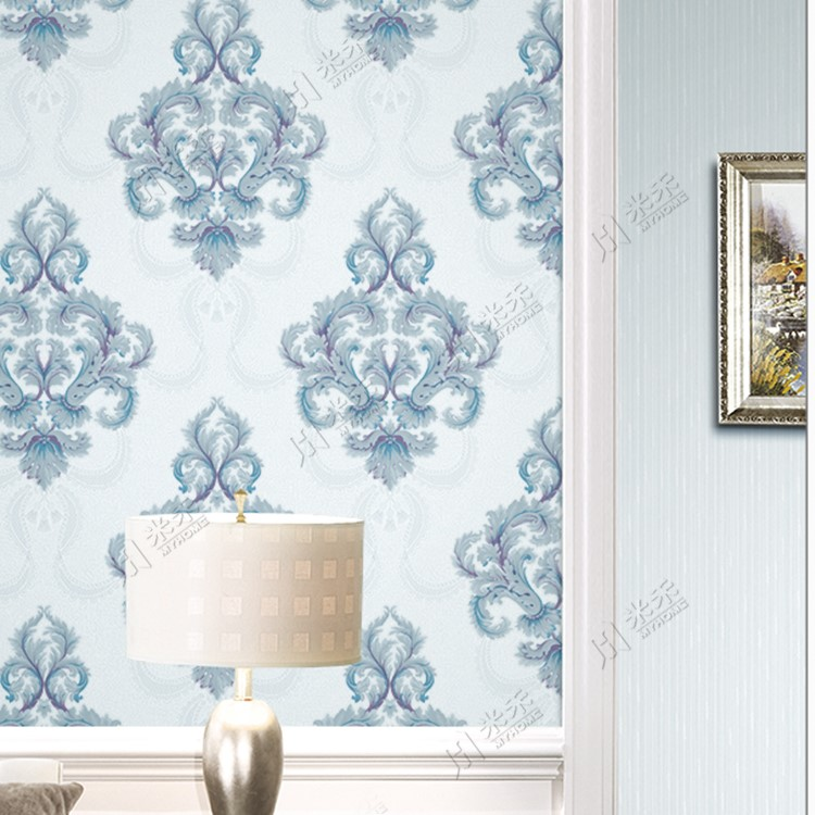 Classic damask pattern wall paper rolls Italian design wallpaper for hotel project