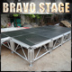 nine trust 4x8 concert great loading adjustable aluminum stage