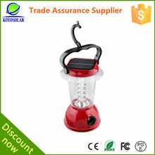 high quality portable mini solar lantern with solar panel on top
