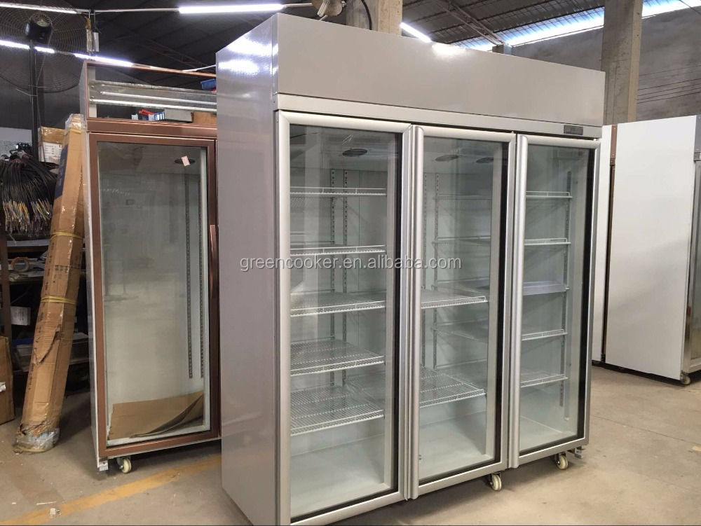 glass door refrigerator/vertical freezer/wall mount cooler