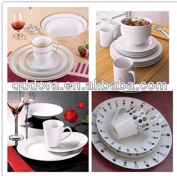 Hot Sale Cheap Ceramic Dinner Plates With Gold Rim Or Cther Ceramic Dinnerwar