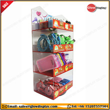 Retail store counter top display case for cell phone accessories chargers for convenient stores gas stations