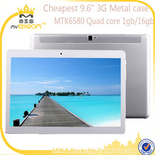 Cheap 9.6inch Android 5.1 MTK6580 Quad core 3G Tablet pc with Phone function