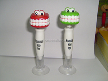 animal shaped sucker ball pen, bob shaped designed gifts pen, CH-6813