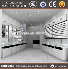 Wholesale high quality display optical store dubai,mdf display cabinet