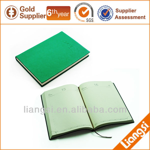 leather agenda 2014 With PU Leather Cover
