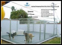 hot galvanized chain link dog run kennel (easy installation and folding)