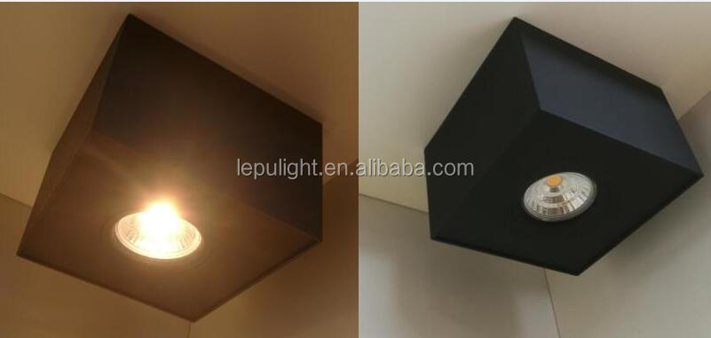 High Quality Dimmable Gyro Square 9W Surface Led COB Downlight