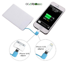 Manufacturer wholesale Fast charge power bank Credit Card 2500mah
