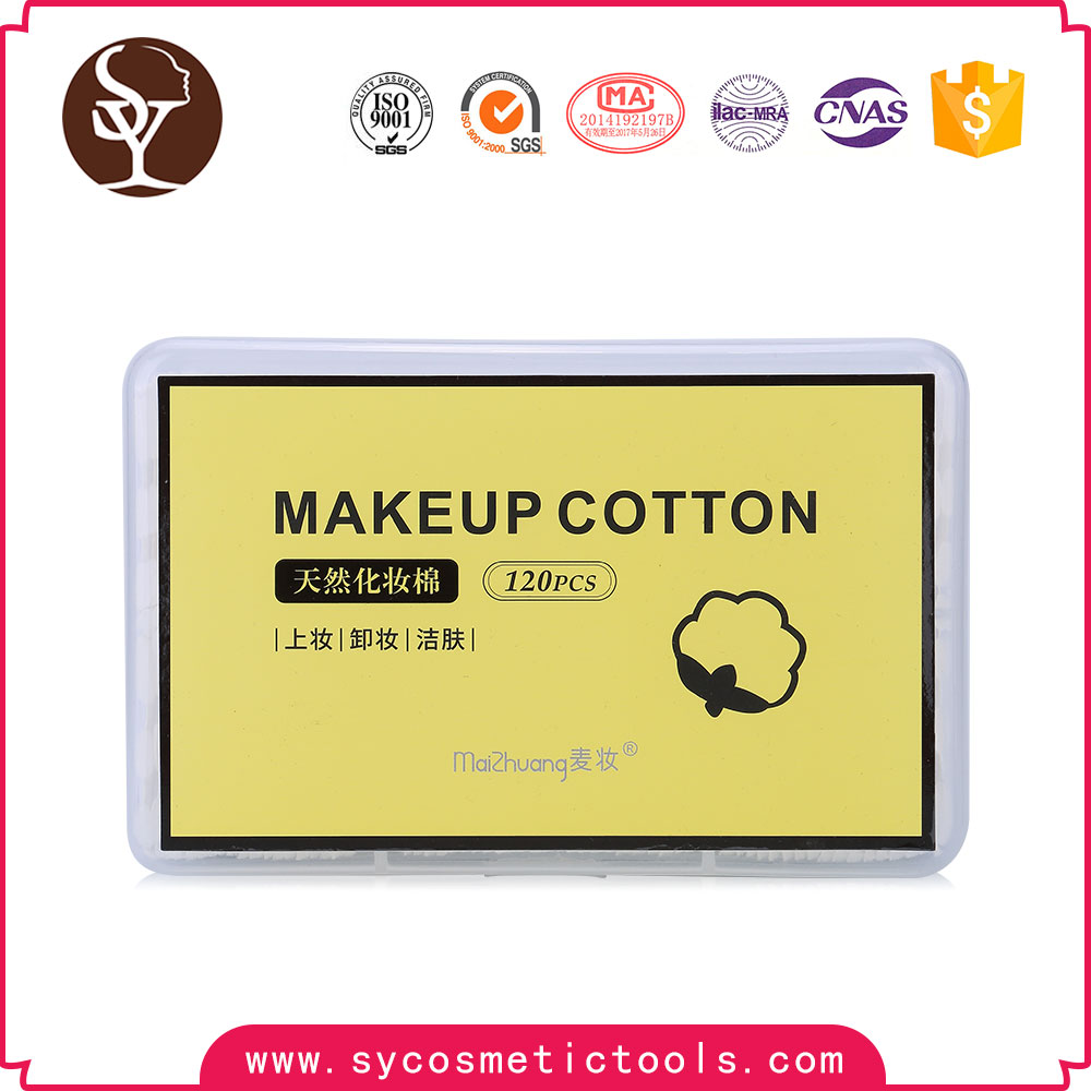 Hot sales products 2017 face square makeup pads cotton remover