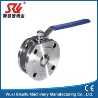 Hot selling wafer type flanged ball valve
