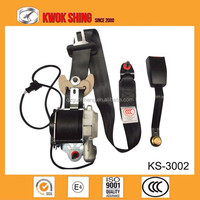 Auto accessory china supplier and munufacturers car safety belts, 3 points seat belt with seat belt retractor with Emark