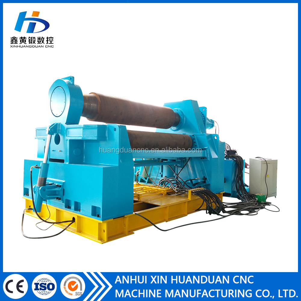 SGS CE hydraulic cold iron 16mm steel rolling machine/4 roller plate bending machine