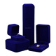 High Quality Royal Blue Velour Jewelry Packaging Box Gift Set