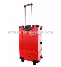PROFESSIONAL BEAUTIFUL HIGH QUALITY PVC MAKEUP TROLLEY CASE