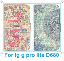 Flip Book Wallet PU Leather Case Cover for LG G Pro Lite D680 D686 D682