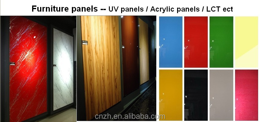 High Glossy Used White Laminated Kitchen Cabinet Door For Acrylic Laminate