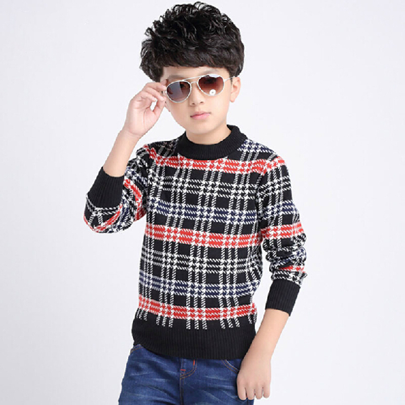 Boys Thick Sweater Kids Boy Wool Sweaters Winter Clothes Children Cartoon  Clothing Child Boy Pattern Pullover Kid Plaid Sweater