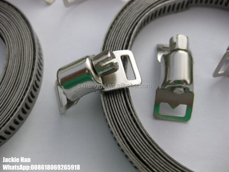 8mm DIY HOSE CLAMP 201 material band and housing 8pcs +1 pc 3M band