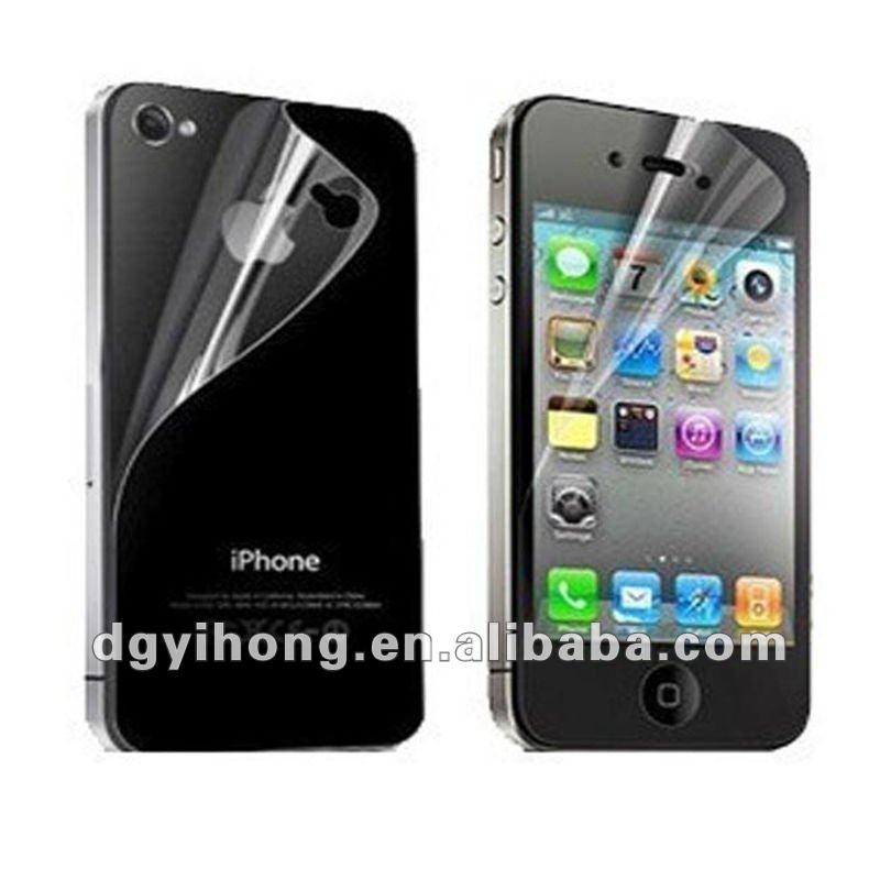 factory supply mirror protective film for iphone 4