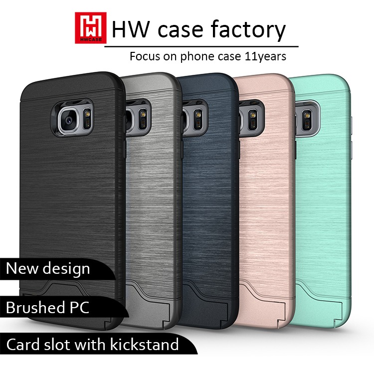 New Case Back case cover For Samsung Galaxy S6 Case With Card Holders