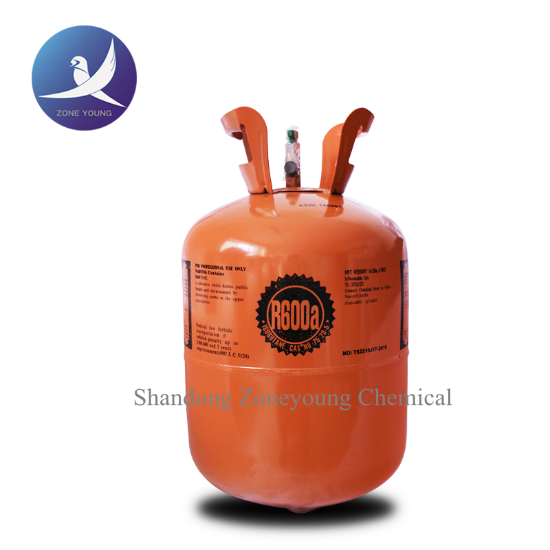 High quality and purity R600a gas,refrigerant gas R600a,10 kg disposable cylinder