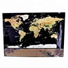 Scratch Off new customizable Travel Edition Deluxe World Map with 250g Gold Foil