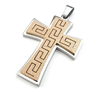 Latest Fashion Styles Rose Gold Color Sandblasting Wholesale Large Cross Pendants