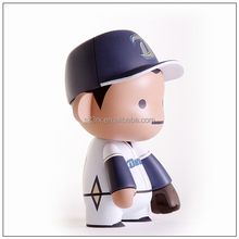 Korea pop custom make baseball player action figure/cartoon baseball star plastic figure/factory make your design baseball toy