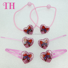 2017 hot style fashion pink butterfly diy asian hair accessories for girls