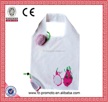 Promotional 210D Polyester Foldable Shopping bags & Reusable Folding shopping bags & polyester Folding bags with fruit design