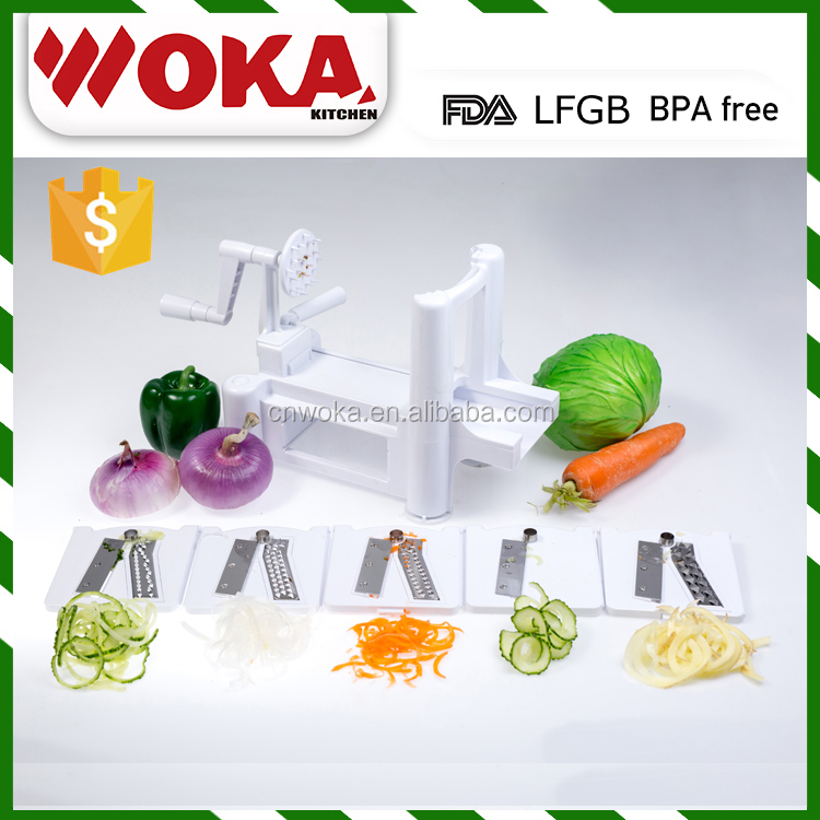 kitchen tools 5 bldes vegetable spiral cutter Sprial Slicer sprializer magic chopper vegetable grater