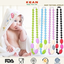 Fashion for Mum and Safe for Baby BPA free ,Manufacturer Custom Silicone Chewable Jewelery