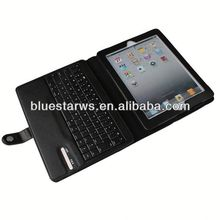 new fashion Bluetooth Keyboard Leather Case For Ipad 2 3 4 tablet case for ipad 2 3 4