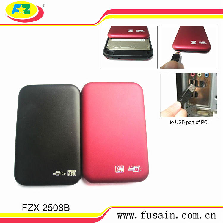 480Mbps USB 2.0 2.5 Inch External SATA HD HDD Case 500gb-1tb MA6116
