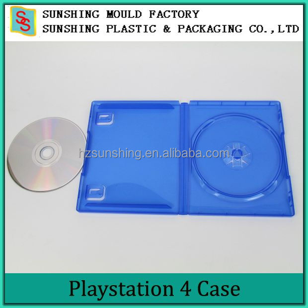 Plastic PS4 Blue Color CD Size DVD Game Case With Media Packaging