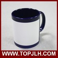 DIY colorful blank coated part color change magic gift coffee mugs