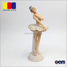 Lovely Resin Ballerina Figurine Crafts Dancing Girl Sculpture Dancer Figurines