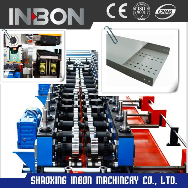 Hot dipped galvanized trench type cable tray roll forming machine
