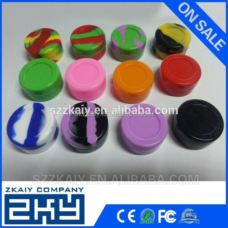 different color small silicone storage containers silicone bho container