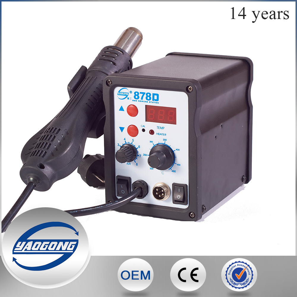 desoldering station 878D hot air rework soldering station with Digital temperature display