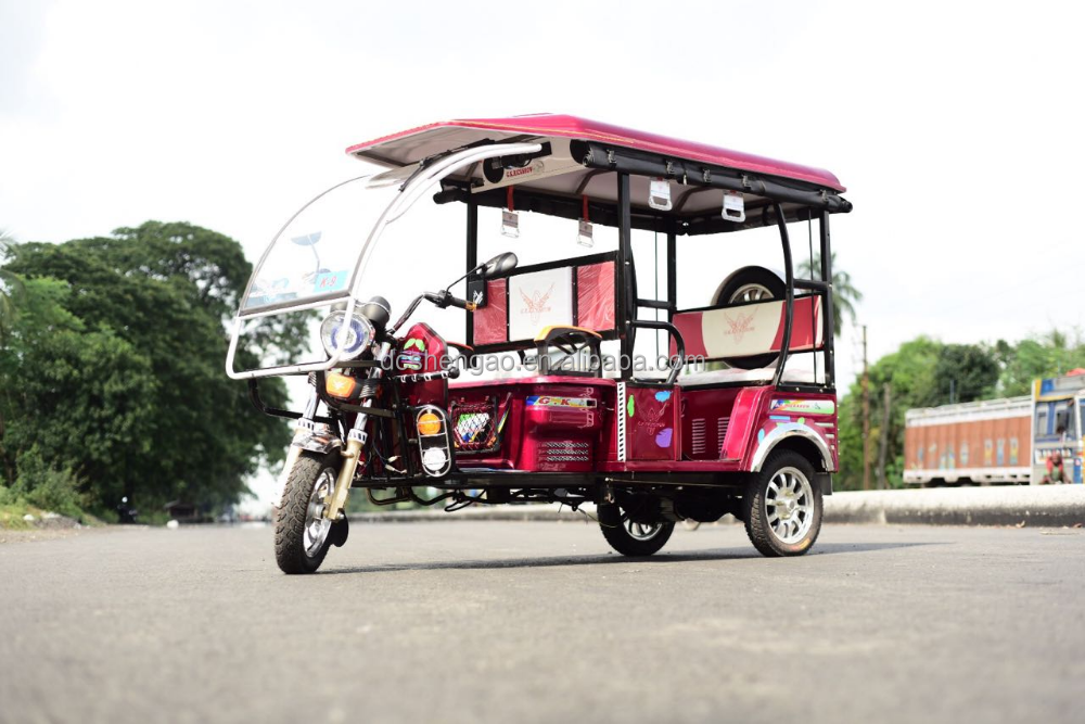 Bajaj Tuk Tuk Rickshaw Commercial Tricycles For Passengers