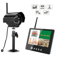 "9"" TFT HD Wireless weatherproof bullet IP camera monitor DVR Video home Security camera System BMS903E11"