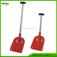 telescopic aluminum handle,car snow shovel, any color available, emergency sport utility shovel