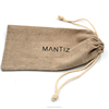 Linen Cotton Drawstring Pen Gift Packing Pouch Student Pencil Bag