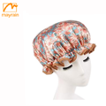 2018 Flower colorful printing popular bath customized shower cap